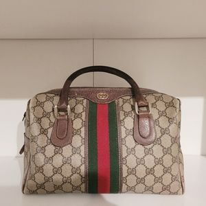 Vintage Gucci GG Boston Bag